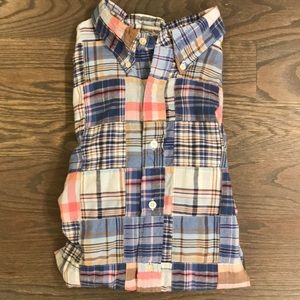Brooks Brothers Madras Button Down Shirt XL